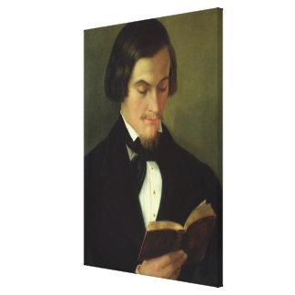Portrait of the poet Heinrich Heine  1842 Canvas Print
