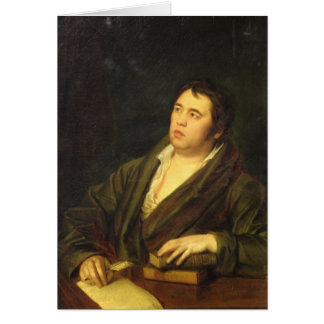 Portrait of the poet Ivan A. Krylov, 1812 Card