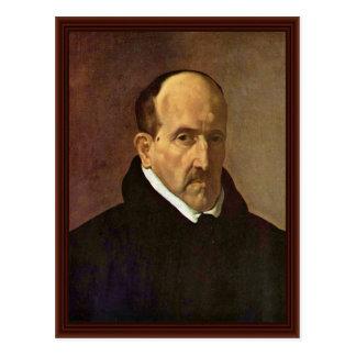 Portrait Of The Poet Luis De Gã ³ Ngora Y Argote Postcard