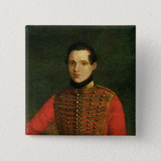 Portrait of the Poet Michail Lermontov Pinback Button