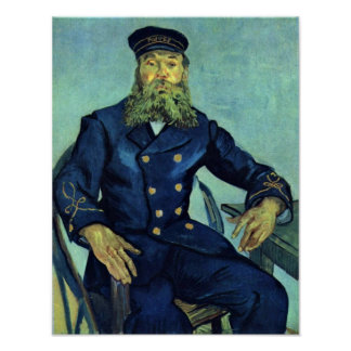 Portrait of the Postman by Vincent Willem van Gogh Poster