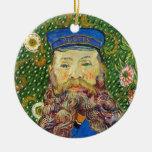Portrait of the Postman Joseph Rouli Van gogh vinc Christmas Ornament