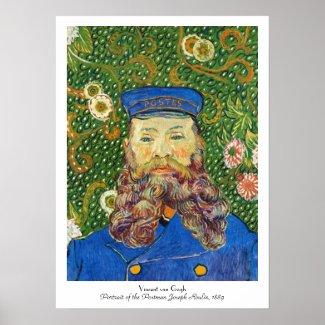 Portrait of the Postman Joseph Rouli Van gogh vinc Poster