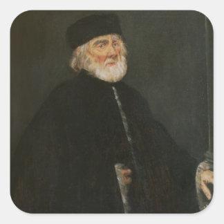 Portrait of the Procurator Nicolo Priuli Square Sticker
