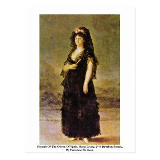 Portrait Of The Queen Of Spain, Maria Louisa Postcard