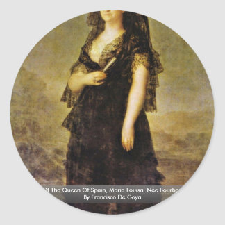 Portrait Of The Queen Of Spain, Maria Louisa Sticker