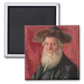 Portrait of the Rabbi of Nadvorno, c.1910 (oil on 2 Inch Square Magnet