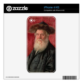 Portrait of the Rabbi of Nadvorno, c.1910 (oil on Decal For iPhone 4
