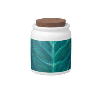 Portrait of the Real Green Man (surrealism) Candy Jar