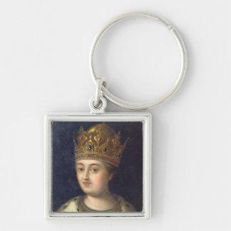Portrait of the Regent Sophia, 1772 Silver-Colored Square Keychain