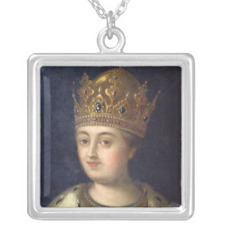 Portrait of the Regent Sophia, 1772 Silver Plated Necklace