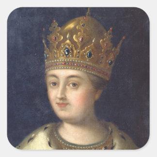 Portrait of the Regent Sophia, 1772 Square Sticker