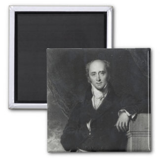 Portrait of the Right Honourable Charles Grey 2 Inch Square Magnet