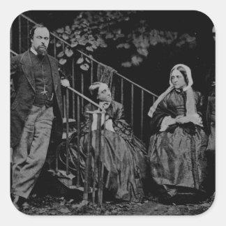 Portrait of the Rossetti Family, 1864 Square Sticker