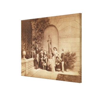 Portrait of the Royal Family at Osborne House, 185 Canvas Print