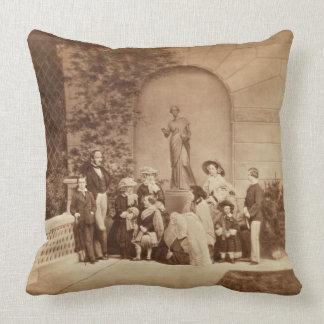 Portrait of the Royal Family at Osborne House 185 Throw Pillows