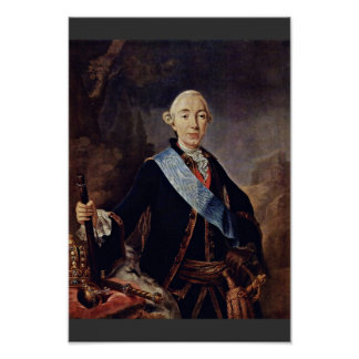 Portrait Of The Russian Emperor Peter Iii. By Pfan Poster