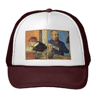 Portrait Of The Sculptor Aubé And His Son Trucker Hat