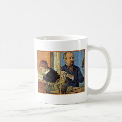 Portrait Of The Sculptor Aubé And His Son Classic White Coffee Mug