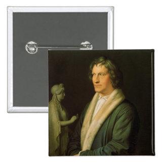 Portrait of the sculptor Bertel Thorvaldsen Pinback Button