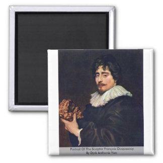 Portrait Of The Sculptor François Duquesnoy Magnets