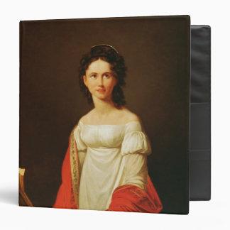 Portrait of the singer Anna Borunova, 1821 Binder