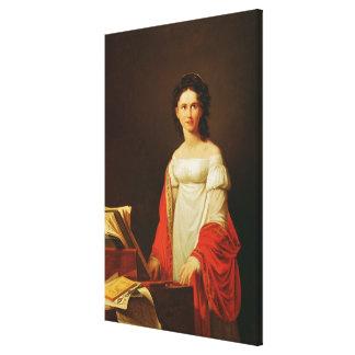 Portrait of the singer Anna Borunova, 1821 Canvas Print