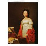Portrait of the singer Anna Borunova, 1821 Greeting Card