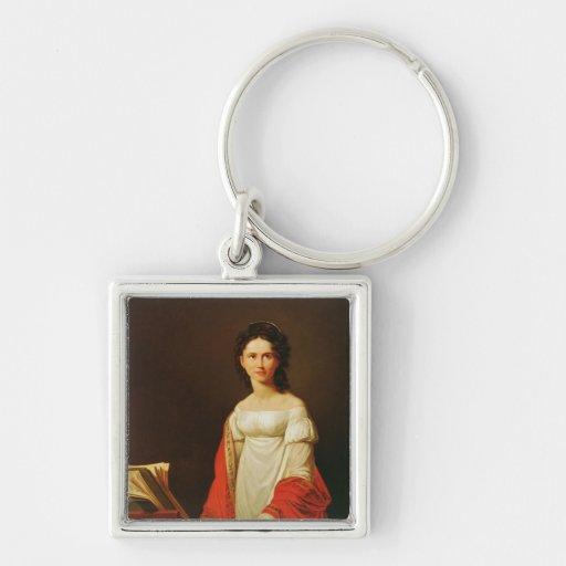 Portrait of the singer Anna Borunova, 1821 Key Chain