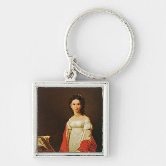 Portrait of the singer Anna Borunova, 1821 Keychain
