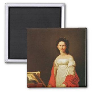 Portrait of the singer Anna Borunova, 1821 Magnet