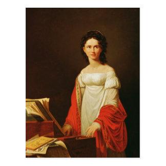 Portrait of the singer Anna Borunova, 1821 Postcards