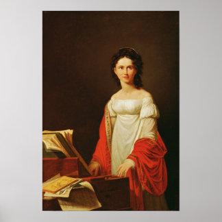 Portrait of the singer Anna Borunova, 1821 Poster