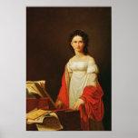 Portrait of the singer Anna Borunova, 1821 Posters