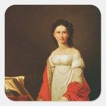 Portrait of the singer Anna Borunova, 1821 Sticker