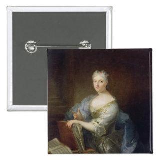 Portrait of the singer Marie-Louise Desmatins 2 Inch Square Button
