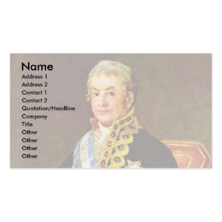 Portrait Of The Spanish Justice Minister Double-Sided Standard Business Cards (Pack Of 100)