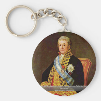 Portrait Of The Spanish Justice Minister Key Chains