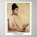 Portrait Of The Step-Daughter By Giovanni Fattori Poster