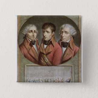 Portrait of the Three Consuls of the Republic Button
