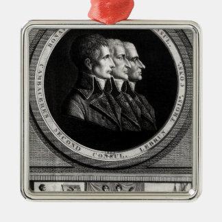 Portrait of the Three Consuls of the Republic Metal Ornament