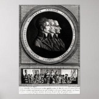 Portrait of the Three Consuls of the Republic Poster