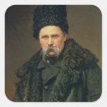 Portrait of the Ukranian Author Square Sticker