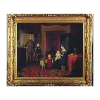 Portrait of the Van Cortland Family, c.1830 Canvas Print
