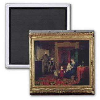 Portrait of the Van Cortland Family, c.1830 2 Inch Square Magnet