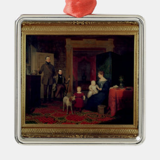 Portrait of the Van Cortland Family, c.1830 Metal Ornament