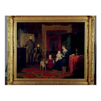 Portrait of the Van Cortland Family, c.1830 Postcard