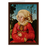 Portrait Of The Wife Of Dr. John Stephan Reuss By Greeting Card