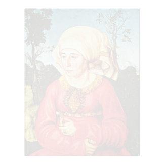 Portrait Of The Wife Of Dr. John Stephan Reuss By Letterhead