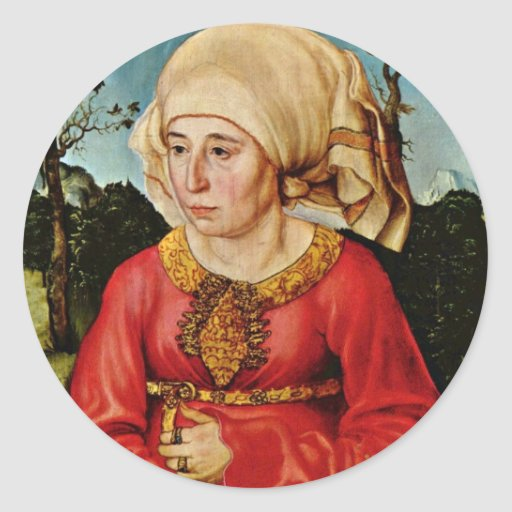 Portrait Of The Wife Of Dr. John Stephan Reuss By Classic Round Sticker
